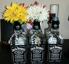 2 more finished jd centerpieces for our reception. Made by myself