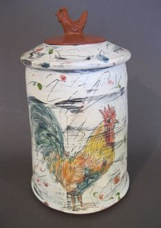 Diane Kenney  A ceramic Cannister with a rooster how cool is that?