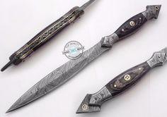 "12.50"" Custom Made Beautiful Damascus Steel Commando Dagger Knife (FSL-087-19) #UltimateWarrior"