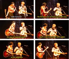 Taylor joining Ed in MSG to sing Everything Has Changed <3 @Michaela Park this is the night we went
