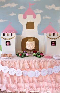Main Table from a Princess Birthday Party via Kara's Party Ideas | KarasPartyIdeas.com (14)