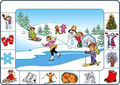 Jelek a tél Seasons Activities, Winter Activities For Kids, Speech Activities, Montessori Activities, Weather For Kids, Teaching Weather, English For Beginners, Hidden Pictures, Worksheets For Kids