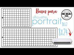 (1006) Base de corte Silhouette PORTRAIT 8X12 e 8X24 - YouTube Base, Silhouette Portrait, Youtube, Ideas, Youtube Movies