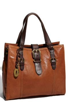 Fossil Vintage Emory Tote in Brown (saddle) Fossil Handbags, Canvas Handbags, Fossil Bags, Tote Handbags, Purses And Handbags, Leather Handbags, Leather Bag, Fossil Watches, Brown Leather