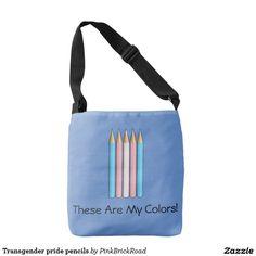 Transgender pride pencils tote bag