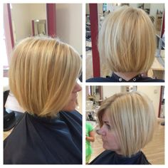 Kara is wanted to be a blonde bombshell and is also attempting to grow her hair into a long, choppy bob. She has some short layers to grow out so we undercut the back a bit, while giving her top section a little texture. Lucky for her, she has very thick, fast growing, tolerant hair!