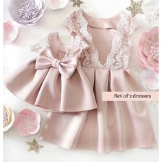 39 trendy baby girl fashion mommy and Mommy And Me Dresses, Little Dresses, Little Girl Dresses, Flower Girl Dresses, Jw Mode, Mother Daughter Fashion, Mother And Daughter Dresses, Dress Anak, Baby Dress Design