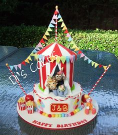 Similar to Landon's First Bday Cake ~Circus Cake