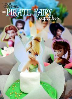 Cupcakes inspired by Tinker Bell!