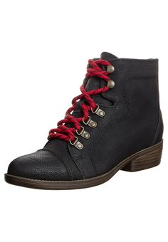 Lace up Ankle Boots - black