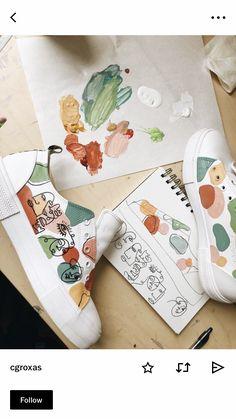 Custom Shoes, Custom Clothes, Custom Painted Shoes, Custom Sneakers, Painted Clothes, Painted Jeans, Aesthetic Shoes, Shoe Art, Diy Clothing