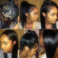 vixen sew in ideas #vixensewin #sewinweave #hairextension #slayed #sewinlonghair