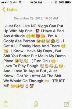 thats me 💯💯 i dont think a nigga can up with my shit Relationships Love, Relationship Quotes, Cute Texts, Bae Quotes, True Facts, Queen Quotes, Couple Quotes, Future Boyfriend, How I Feel