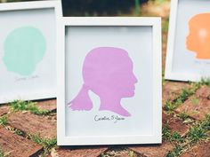 Keep memories alive by DIY-ing these frame-worthy silhouette portraits. #crafts #framing #diy