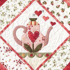 Sweetheart Tea Quilt Block