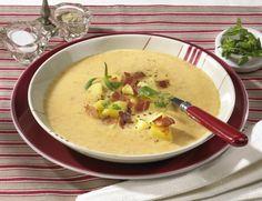 Unser beliebtes Rezept für Cremige Kartoffelsuppe mit Speck und mehr als 55.000 weitere kostenlose Rezepte auf LECKER.de.