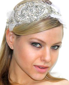 Bridal oversized headpiece head dress crystals by Tatishotties, $65.00