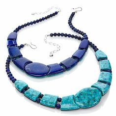 Jay King Reversible Lapis and Turquoise Necklace