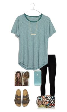 """""""•don't wait for a opportunity,create it•"""" by jessica-smith-xxv ❤ liked on Polyvore featuring MM6 Maison Margiela, Madewell, Birkenstock, Bony Levy and Vera Bradley"""