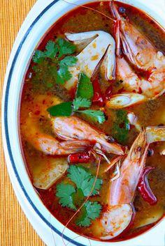 Tom Yam Kung (Thai hot and sour shrimp soup)