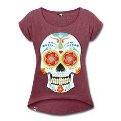 camisetas calavera mujer