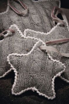 Sweater star ornaments | Shabby in Love