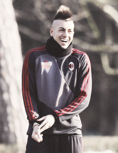 Adorably happy Stephan El Shaarawy via iscosuarez.tumblr.com