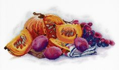 New Cross Stitch Modern Embroidery Kit Fruits, Pumpkin, Hand Embroidery Kit, Food Embroidery, Russian Manufacturer Gift Idea Etsy Embroidery, Modern Embroidery, Beaded Embroidery, Cross Stitch Embroidery, Cross Stitch Patterns, Mini Cross Stitch, Modern Cross Stitch, Inspirational Gifts, Cotton Fabric