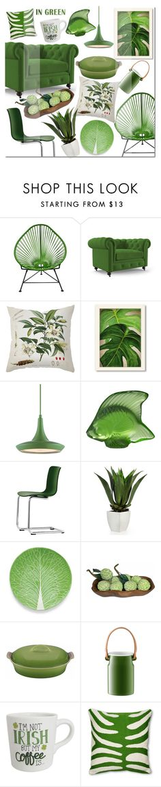 """""""Green Day"""" by mada-malureanu on Polyvore featuring interior, interiors, interior design, home, home decor, interior decorating, Innit, Joybird Furniture, Dot & Bo and Americanflat"""