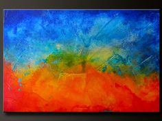 Spectrum - 36 x 24 - Abstract Acrylic Painting - Contemporary Wall Art.