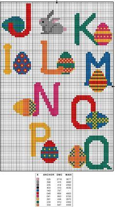 Gráficos de ponto cruz para a Páscoa - Aproveite a Páscoa para fazer algumas lembrancinhas e itens para a decoração da sua casa com P