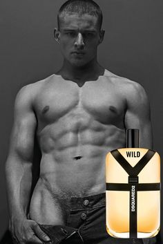 Kiteboarder Silvester Ruck in an ad campaign for Dsquared2 Wild