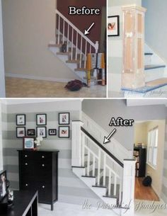 20 Inexpensive Ways to Dress Up Your Home with Molding Looking for an easy and inexpensive way to dress up your old furniture or upgrade . 20 Inexpensive Ways to Dress Up Your Home with Molding Nirtak Rebüf blaustrumpfk Häuser 20 Inexpensive Ways Easy Home Decor, Staircase Remodel, Home Improvement Projects, Home Projects, Home, Diy Remodel, Home Remodeling, Home Renovation, Home Remodeling Diy