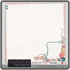 """Day 11"" stacked paper #freebie at SuzyQScraps.com #digiscrap #digifree"