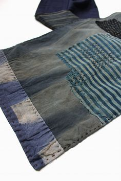 Japanese boro patchwork scarf/antique by SASAKIYOHINTEN on Etsy
