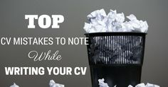 Top CV Mistakes Checklist: Don't Make These Mistakes When Writing a Resume