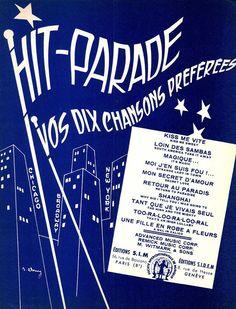 HIT PARADE - 10 SONGS ENGLISCH U. FRANZÖSISCHER TEXT - GROSSFORMAT