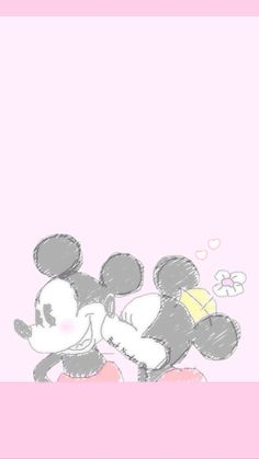 Mickey and Minnie Mickey And Minnie Love, Mickey Mouse Art, Mickey Mouse Wallpaper, Mickey Mouse And Friends, Wallpaper Iphone Disney, Love Wallpaper, Cartoon Wallpaper, Disney Love, Disney Mickey
