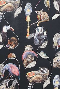 The Party Animals Wallpaper From Anthropologie is Delightfully Deceiving #wallpaper trendhunter.com