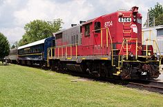 Riding the Blue Ridge Scenic Railway in North Georgia.