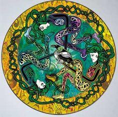 Celtic Raven Art | Triple Morrigan