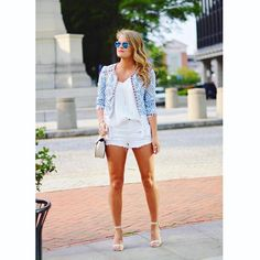 Instagram~ @whatcourtwore White on White Summer Style// Outfit details- www.liketoknow.it/whatcourtwore