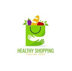 Healthy Shopping Logo Template AI, EPS, PSD