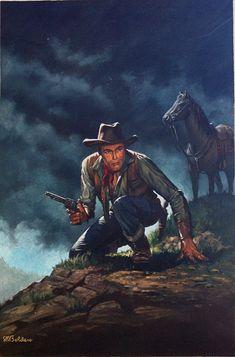 Starlight Rider - Corgi paperback cover art (Original) (Signed) art by Stephen Richard Boldero