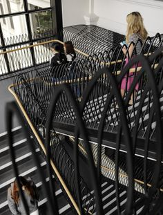 The Australian Catholic University in Melbourne features a unique steel balustrade staircase. Steel Balustrade, Catholic University, History Teachers, Group Work, Learning Spaces, Historical Sites, Melbourne, Education, Colleges