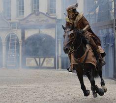Raveleijn Ruiter, foto gemaakt in de Efteling. Ik vindt het gaaf dat het paard los van de grond is.