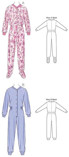 Adult Onesie - Free Pajama Sewing Pattern For Adults | AA- Sewing ...