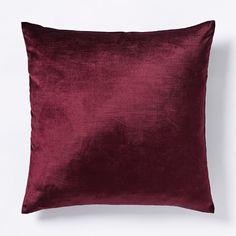 Cotton Luster Velvet Pillow Cover - Berry | west elm