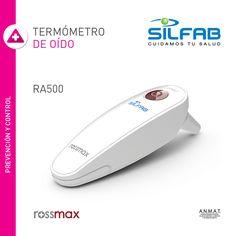 Termómetro de Oído Rossmax RA500 de #SILFAB.  Obtené la temperatura en solo 1 segundo. Posee un display de f'ácil lectura con luz. Además cuenta con registro de 9 memorias. #SILBAB - #Productos Pensados para tu #Bienestar