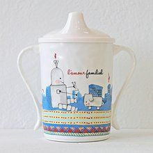 BABY CIE DANI L'Amour Familial Textured Sippy Cup. Available at OurPamperedHome.com